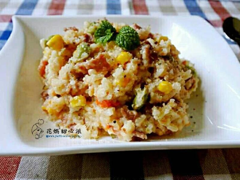 奶香培根玉米燉飯(電鍋料理)