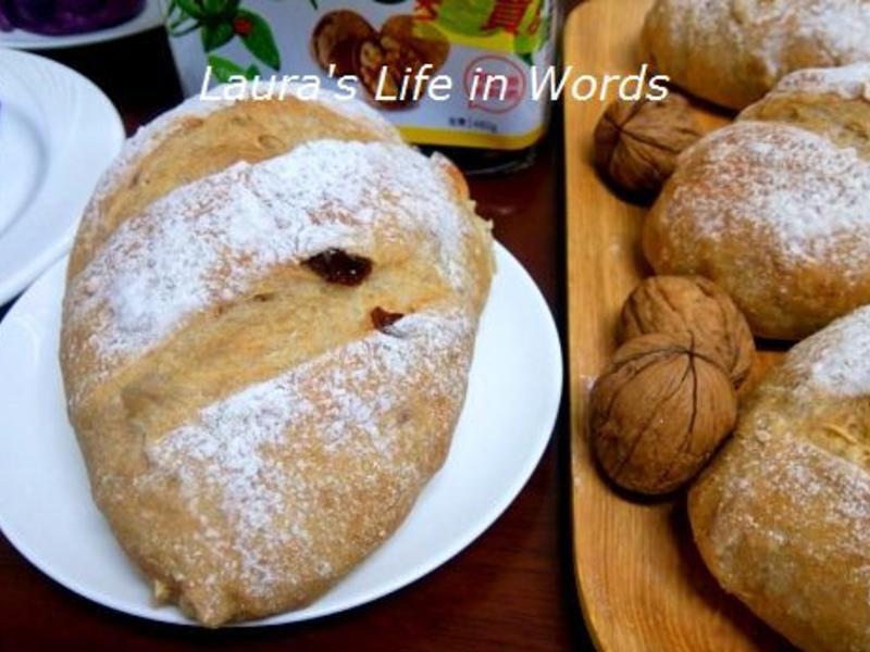 免揉全麥堅果麵包