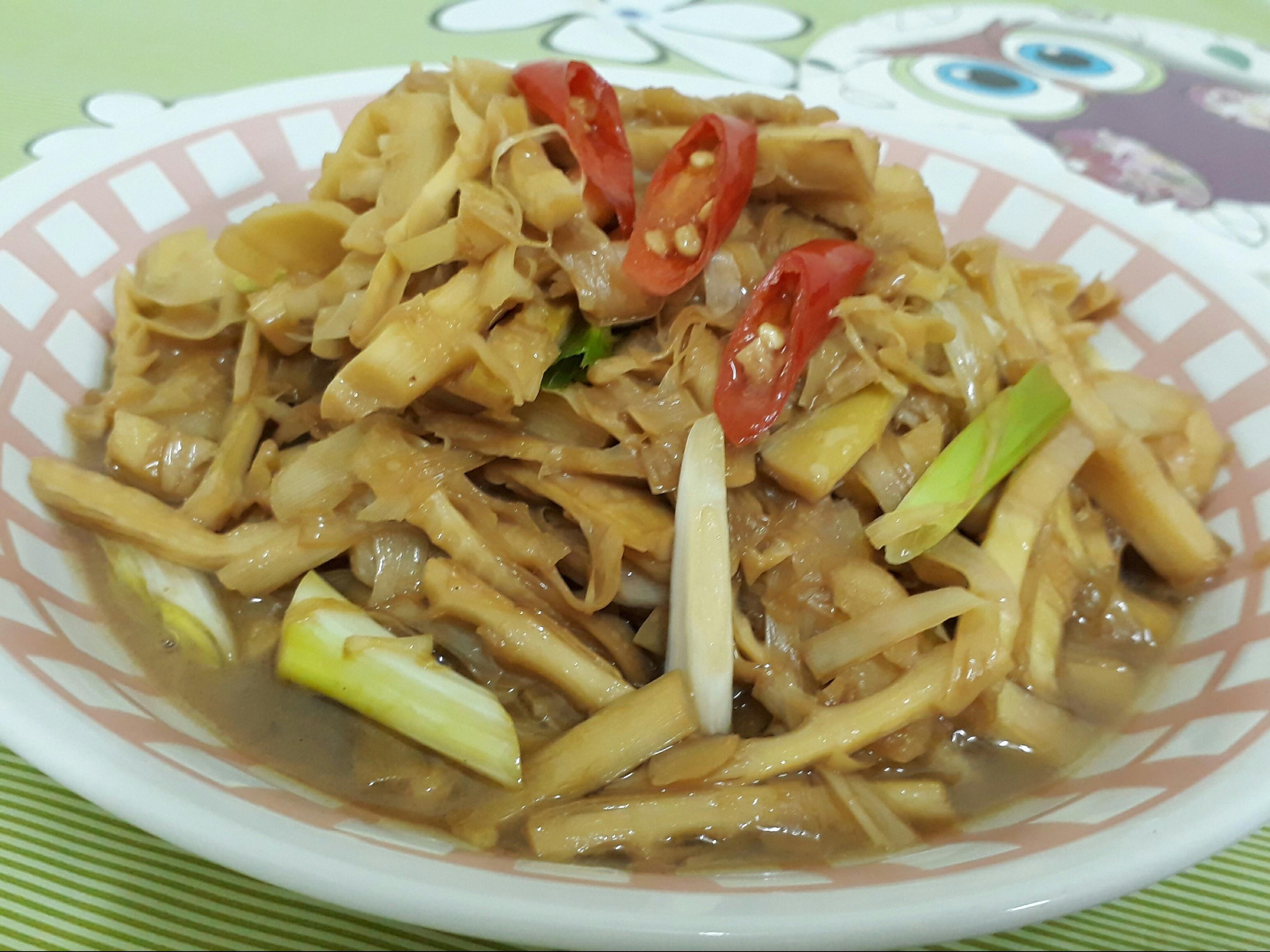 懶人菜譜-桂竹筍嗆醬油