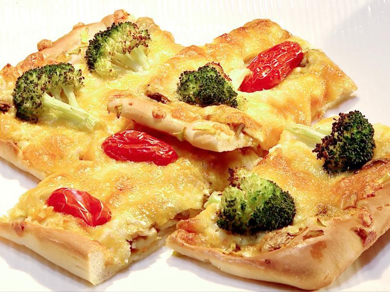 南瓜鹹蛋野菇披薩 │ 奶蛋素可