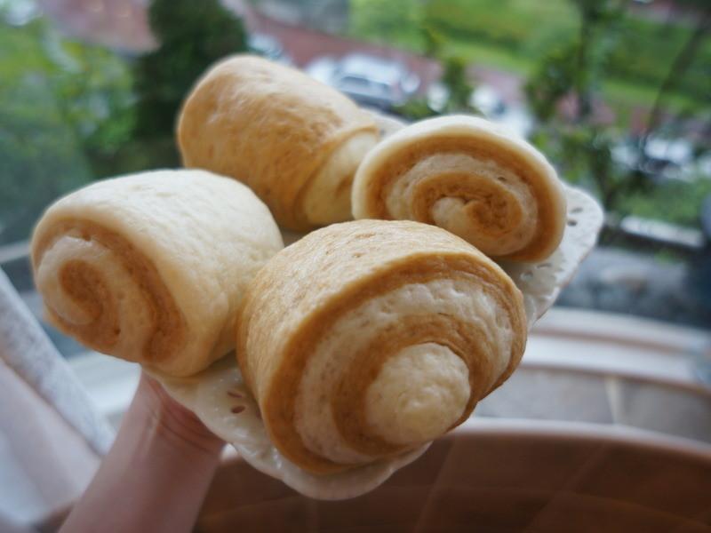 可愛雙色捲心Q彈饅頭 (Lie 兔 Food )