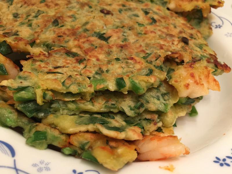 韭菜蝦仁煎餅