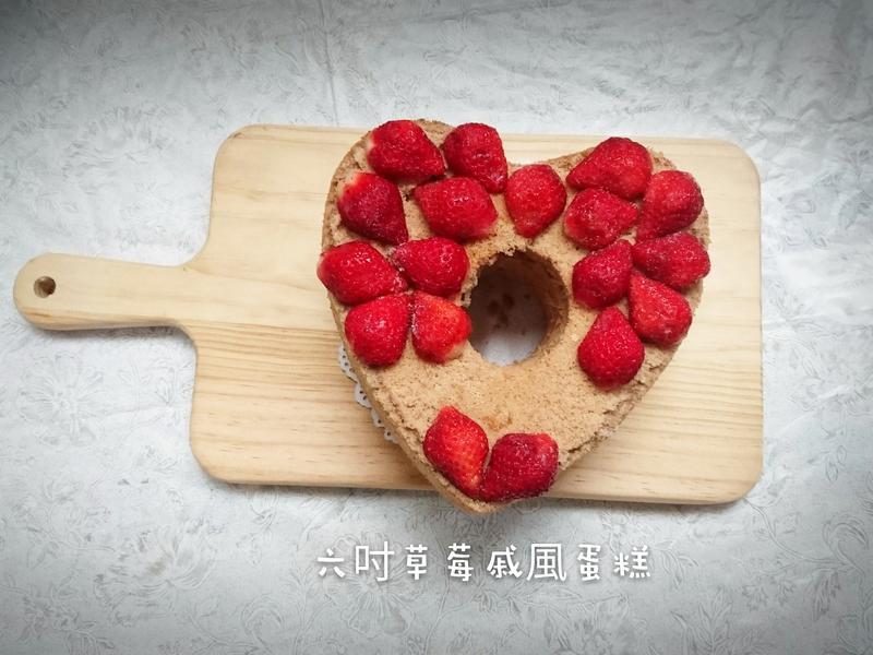 草莓戚風蛋糕(燙麵法)六吋-七吋