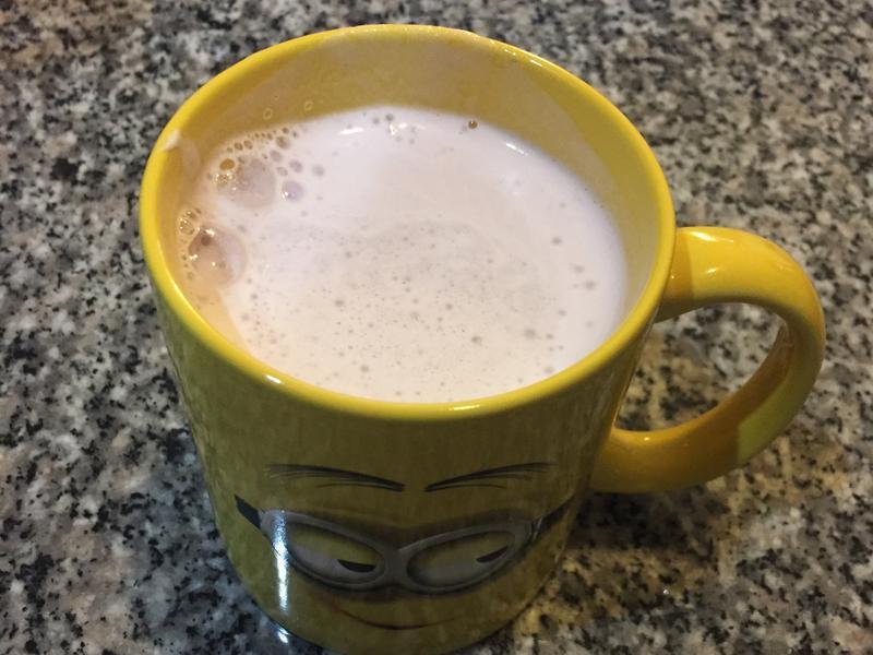紫心地瓜牛奶