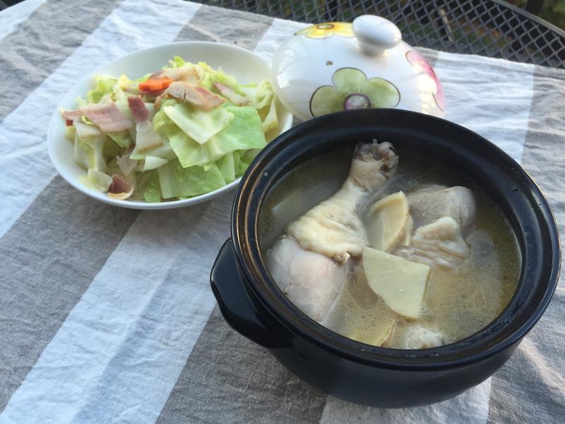 兩人小料理-砂鍋竹筍雞湯