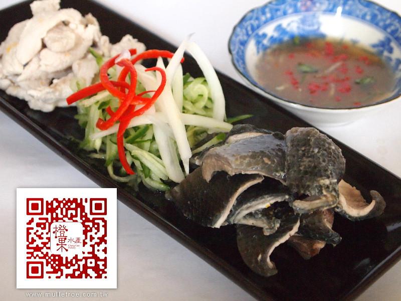 涼拌虱目魚皮、魚肉