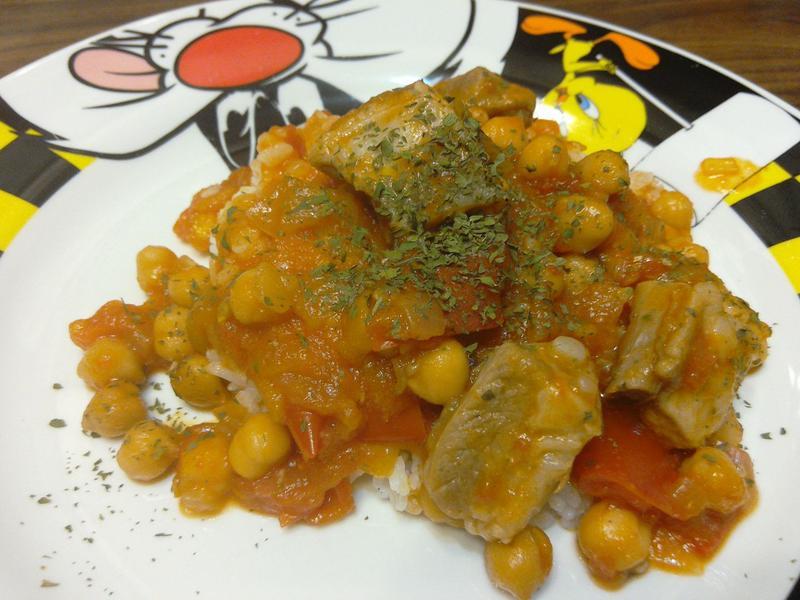 鷹嘴豆番茄排骨飯