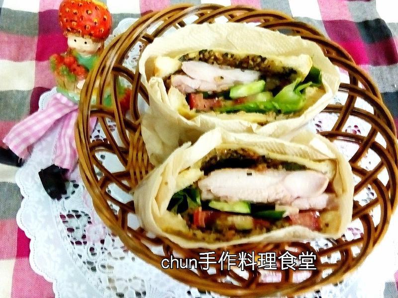 法式青醬雞肉三明治