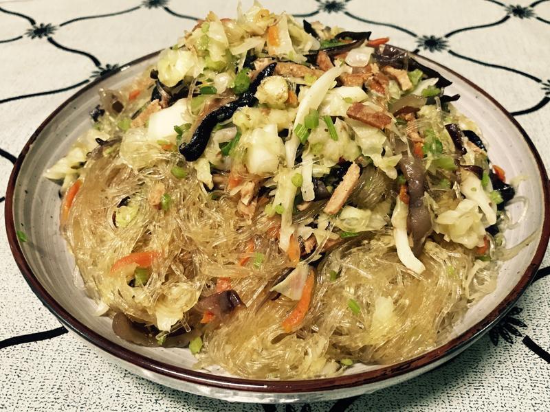 蔬食炒冬粉