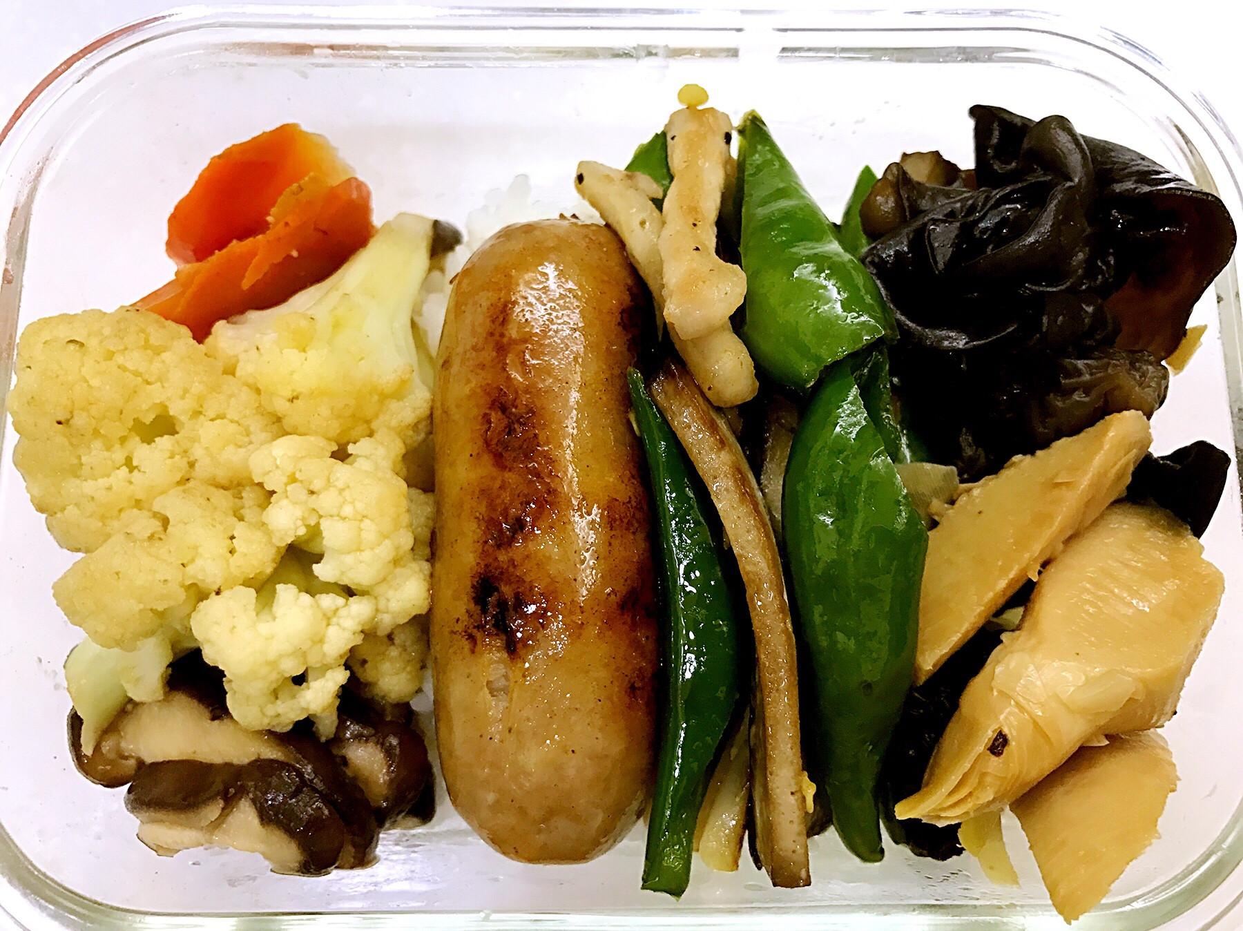 お弁当-170424-青椒豆乾炒肉絲