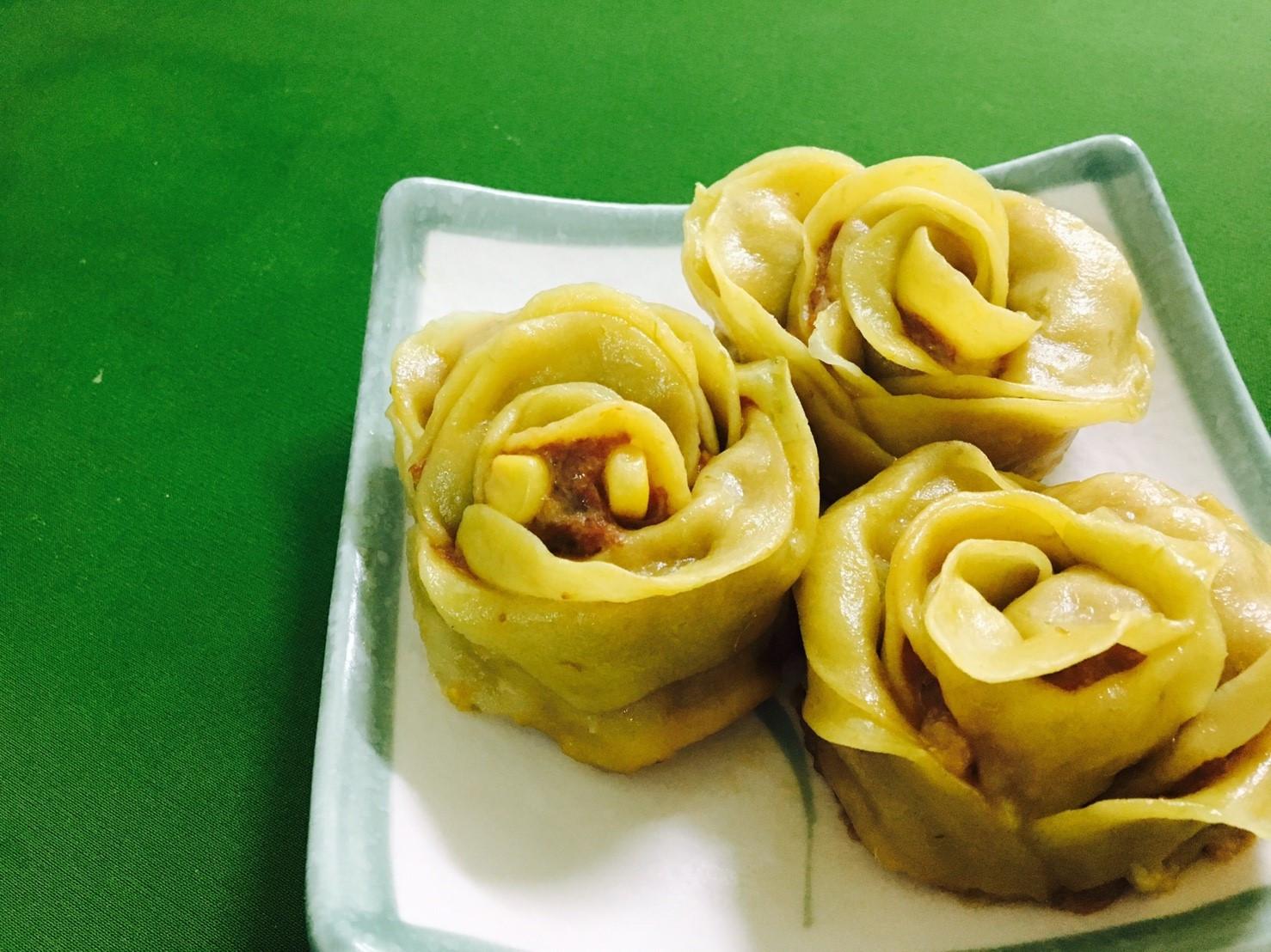 甘藷玫瑰餃