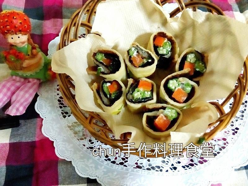 蔥土司壽司卷