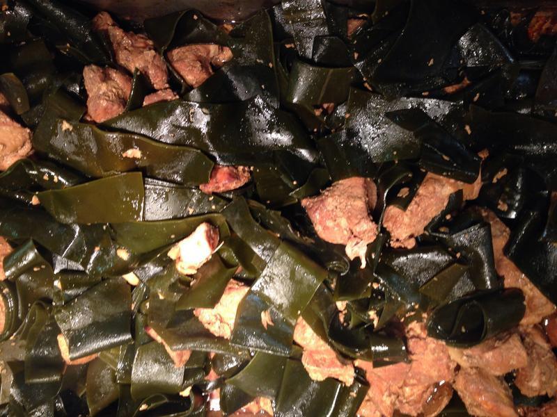 葷菜-海带燒肉