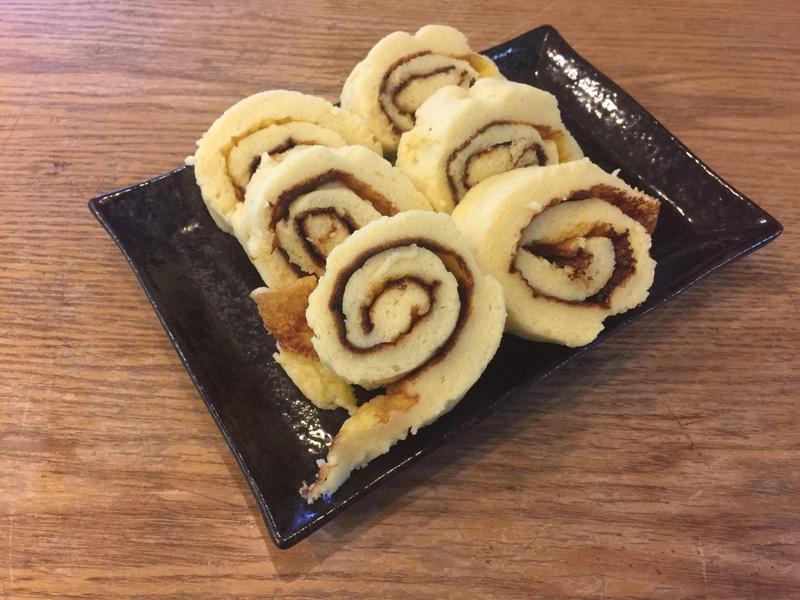 三寶飯食譜:平底鍋蛋糕捲