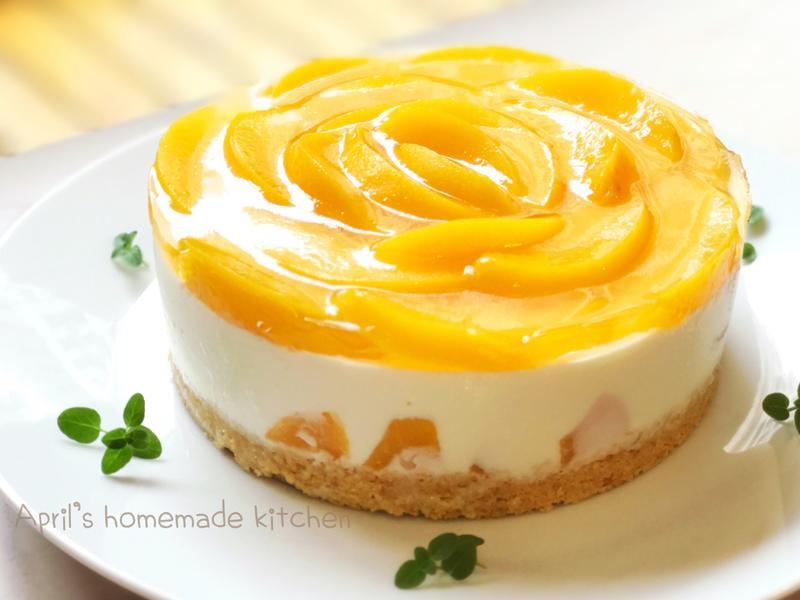 蜜桃可爾必思乳酪蛋糕 免烤箱