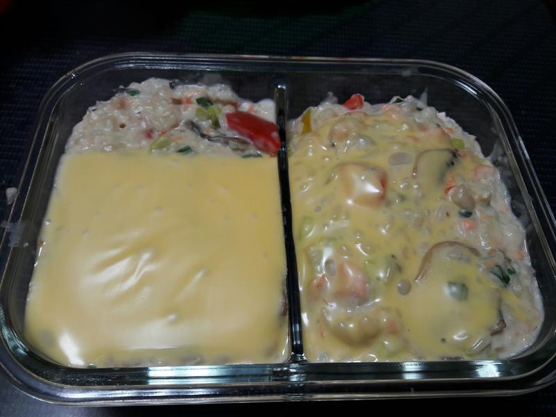 白醬蘑菇鮭魚鮮蔬起司燉飯