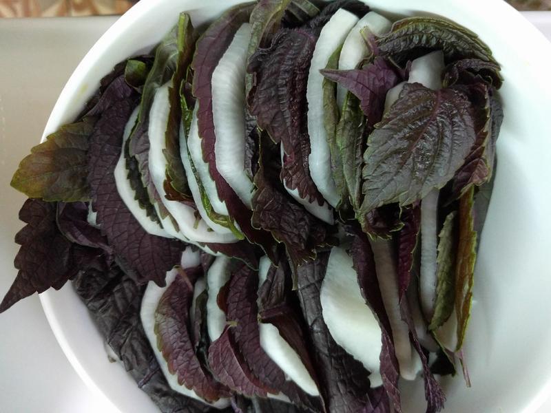 紫蘇醃蘿蔔