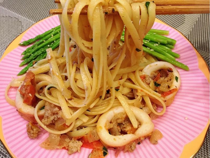 新鮮蕃茄義大利麵(不用醬)
