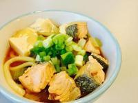 簡單營養👉🏼鮭魚味增湯(烏龍麵)🍜