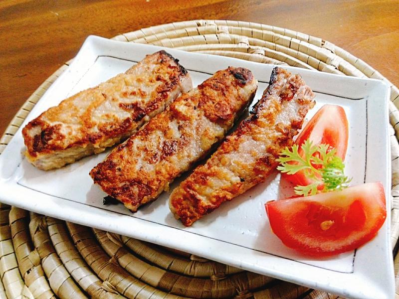 香煎蒜味鮪魚排一超簡單 便當 下酒菜