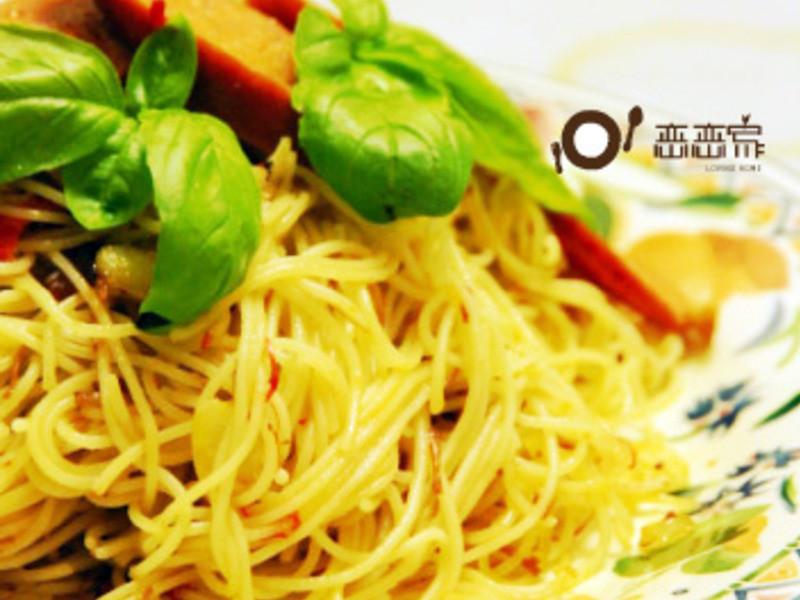 蒜辣煙燻德式香腸Pasta