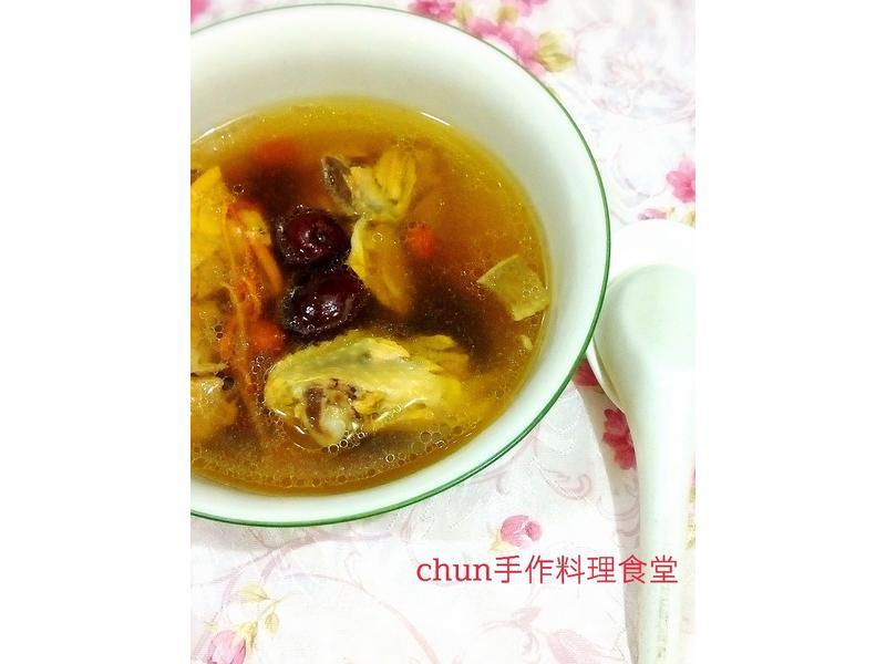蟲草紅棗燉雞湯