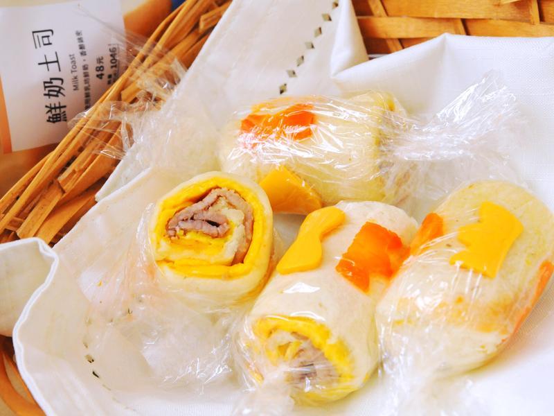 檸檬醬經典肉蛋土司糖果捲