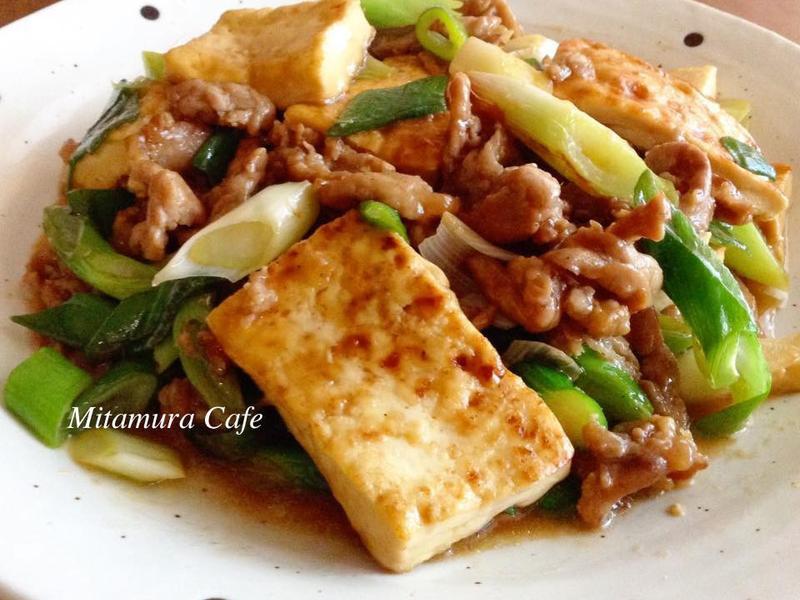 葱燒肉豆腐(懶人煮法)