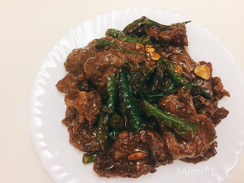 沙茶牛肉炒糯米椒