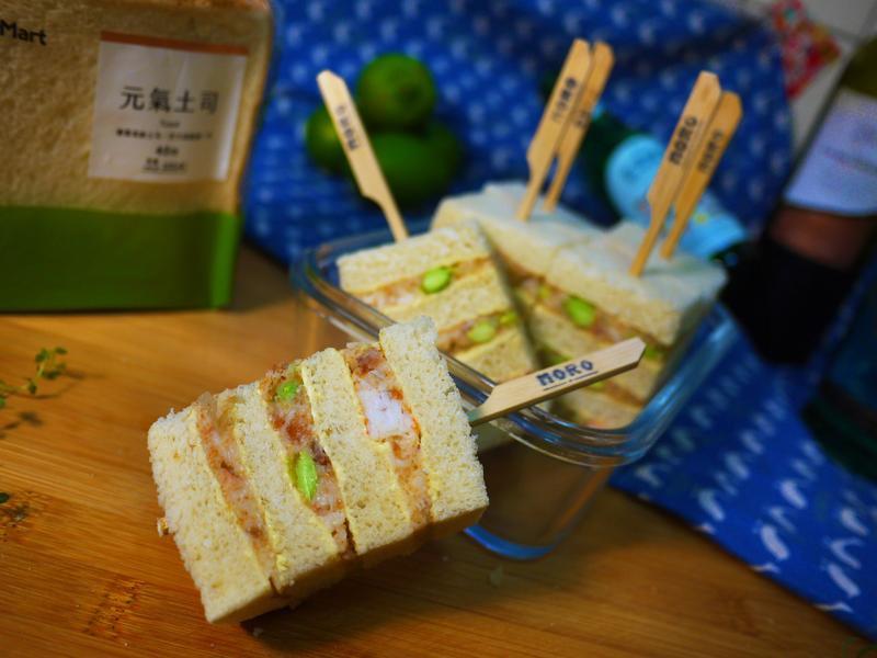 櫻花蝦烏魚子洋芋吐司