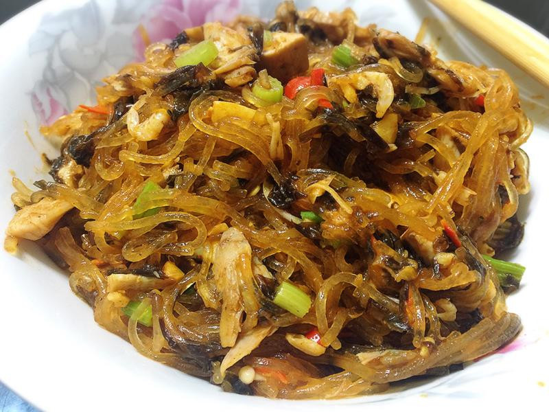 低卡營養~紫菜肉絲冬粉(乾冬粉)