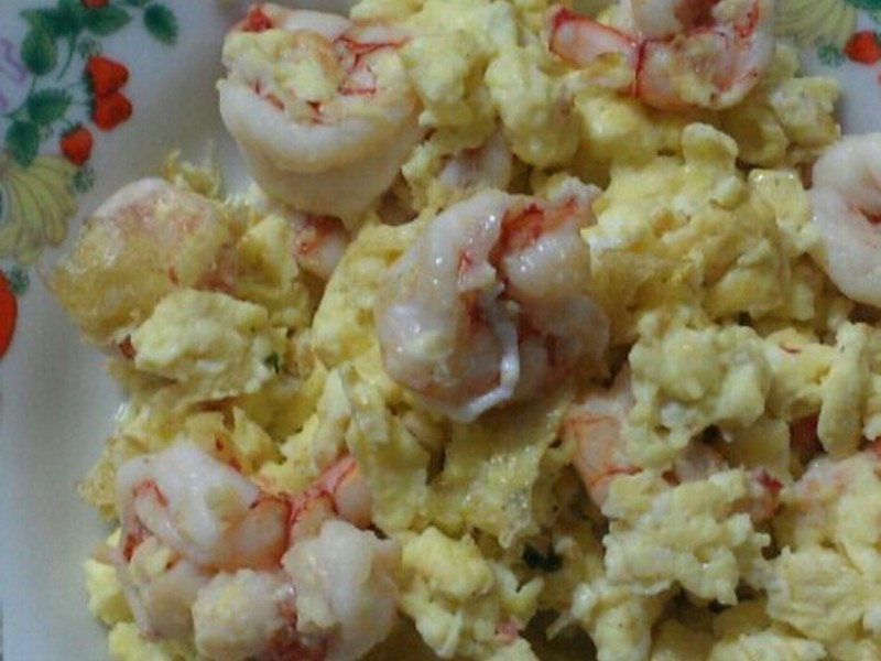 ㄚ曼達的廚房~蝦仁炒蛋