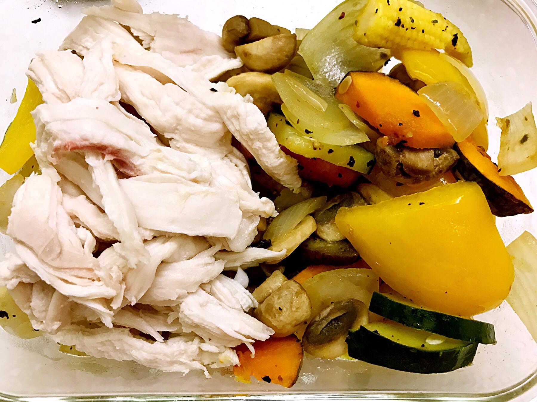 お弁当-170502-雞胸肉溫沙拉
