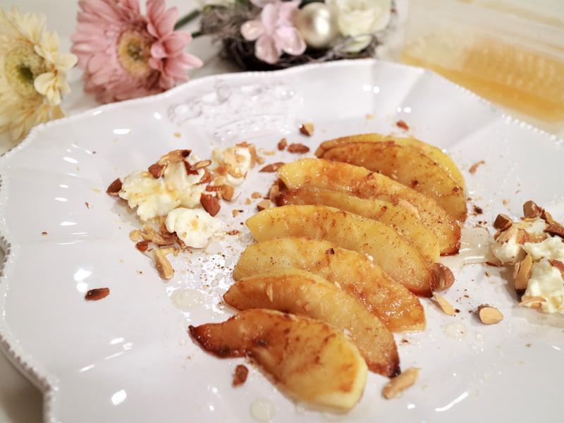 椰子油香煎肉桂蜜蘋果
