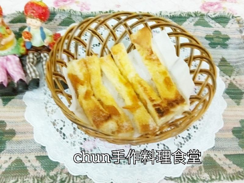 奶油柑橘蜜糖土司條