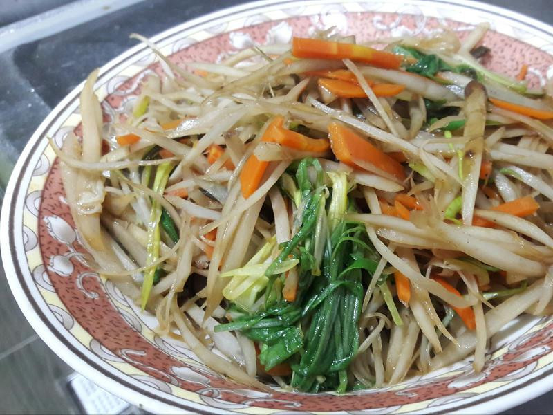 清炒牛蒡絲(鹹味)