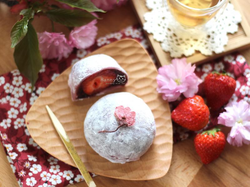♥開動with貓♥草莓大福DIY