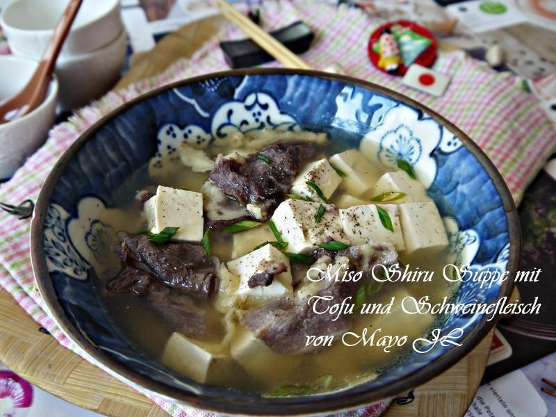 味噌豆腐肉片湯
