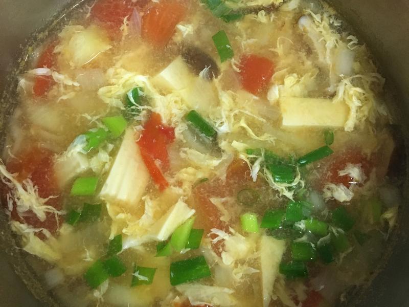 番茄洋蔥蔬菜蛋花湯-減肥湯