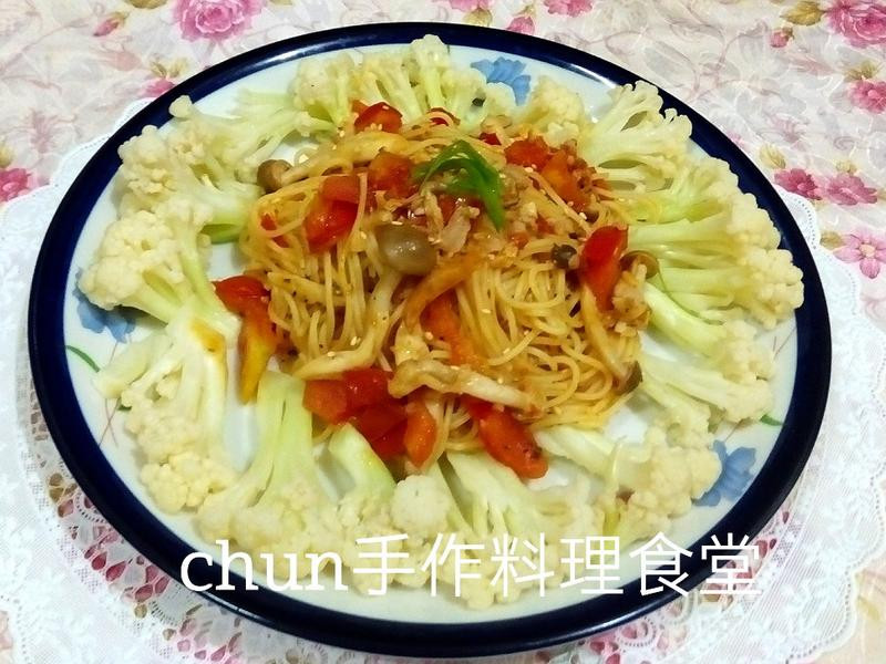 蕃茄肉醬義大利天使麵(百味來私房美味)