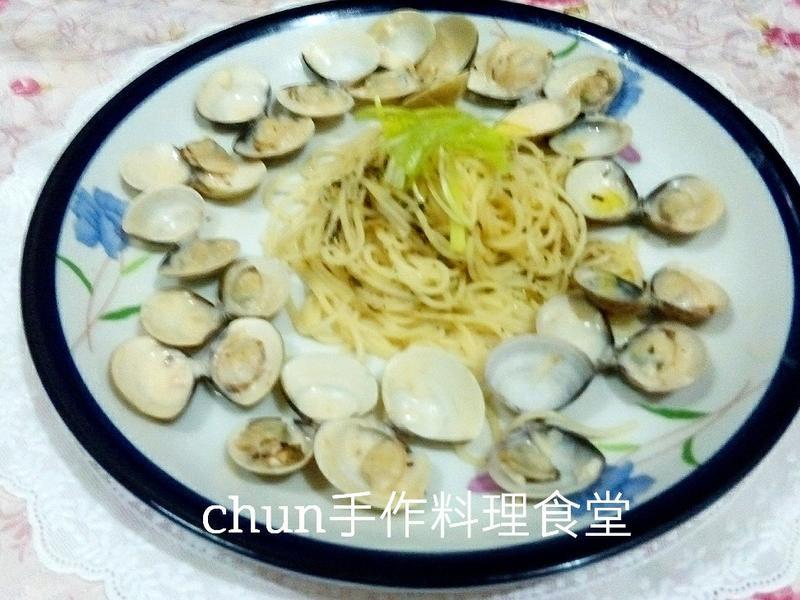 蛤蜊白醬義大利天使麵(百味來私房美味)