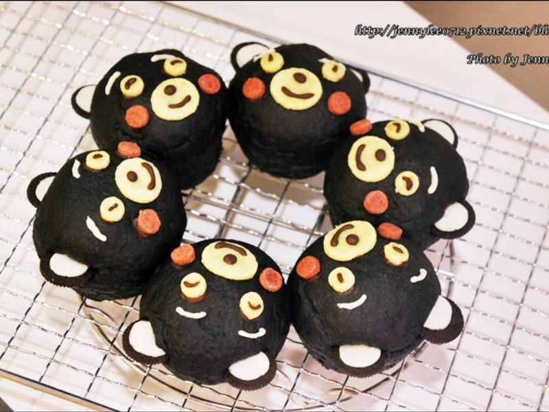 熊本熊竹碳造型麵包(くまモンパン)