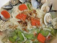 蛤蜊絲瓜麵線