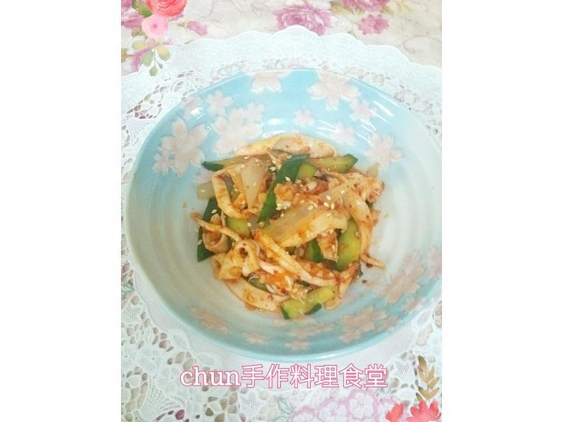 涼拌魷魚~哈韓風(淬釀全菜單挑戰賽)