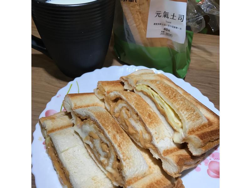 花生起司蛋 盒酥三明治