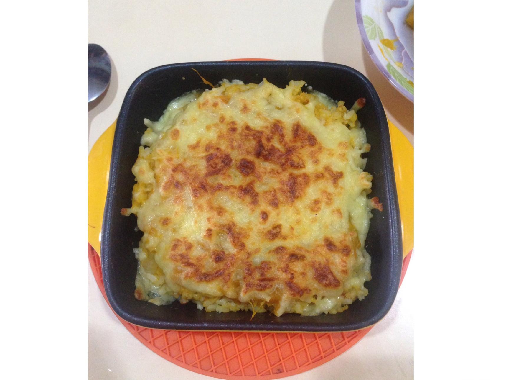 [簡單]焗烤南瓜燉飯