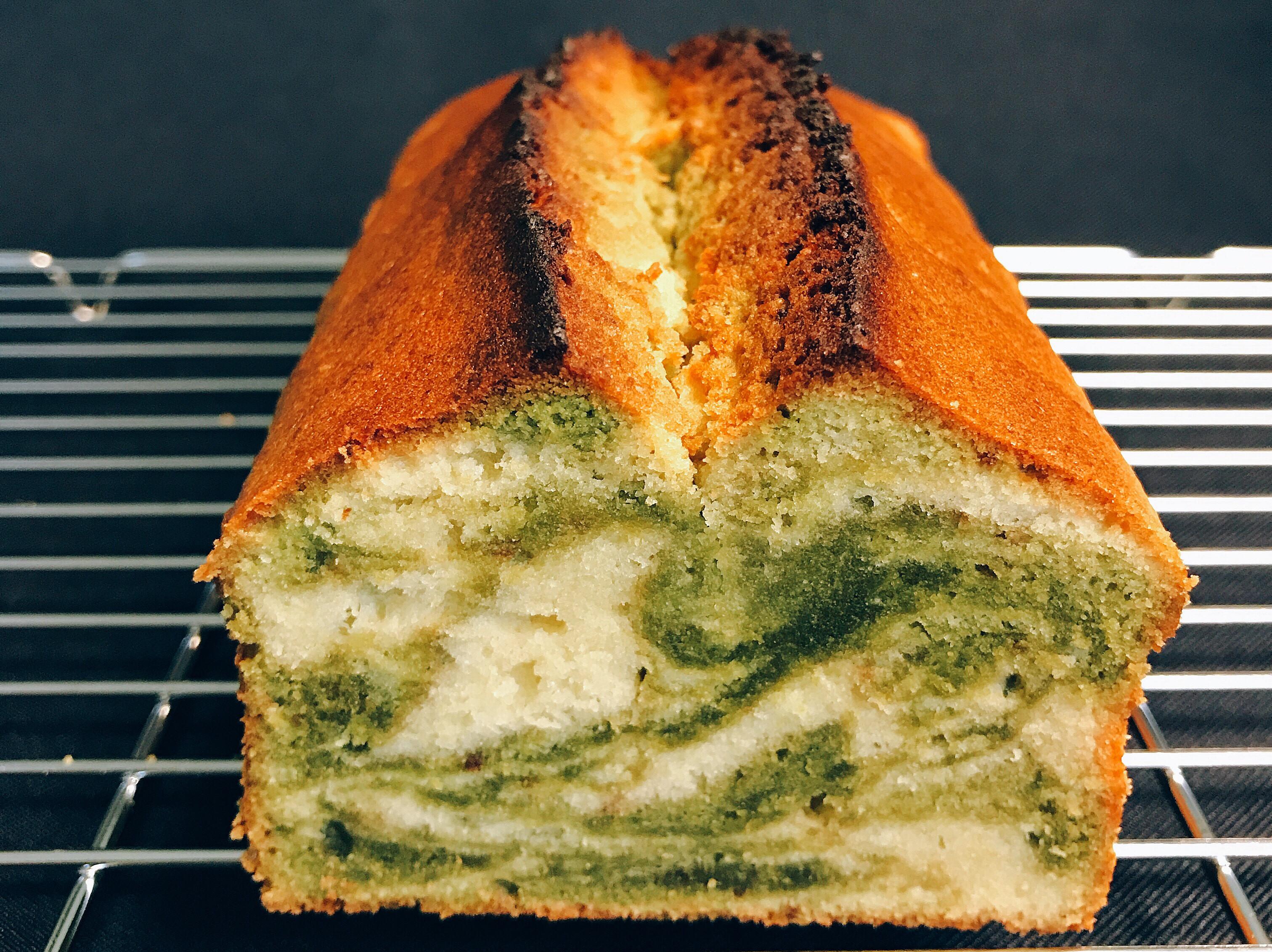 抹茶大理石磅蛋糕