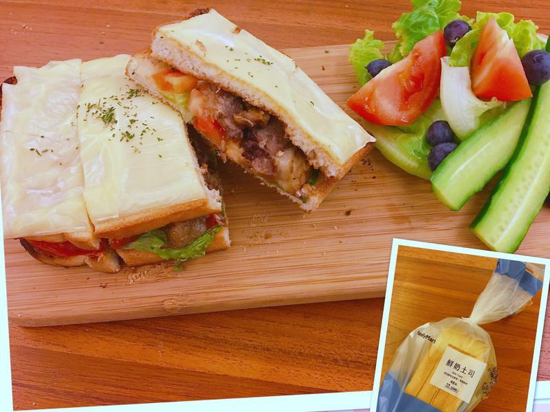 中西合併滷牛腱蔬菜三明治