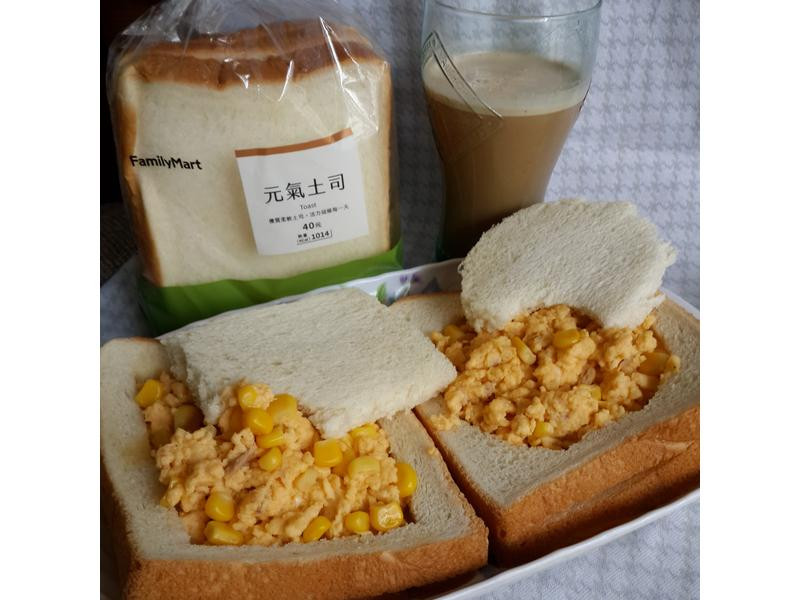全家-元氣鮪魚玉米炒蛋土司