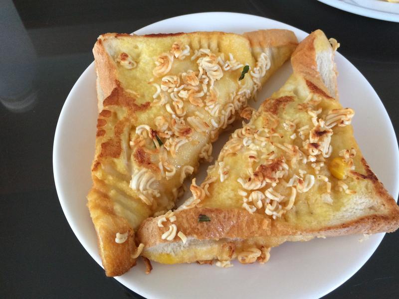 玉米起司法式吐司+統一麵🤗